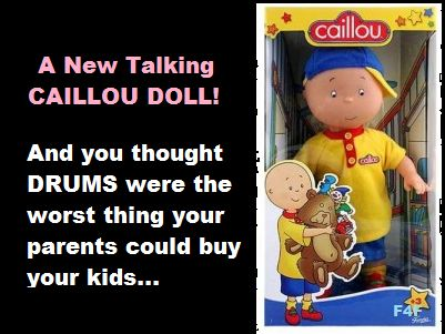 New Caillou Doll