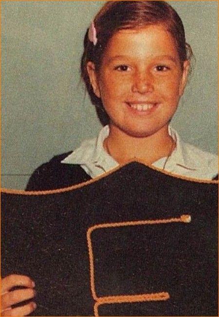 Prinses Máxima op ongeveer 11-jarige leeftijd