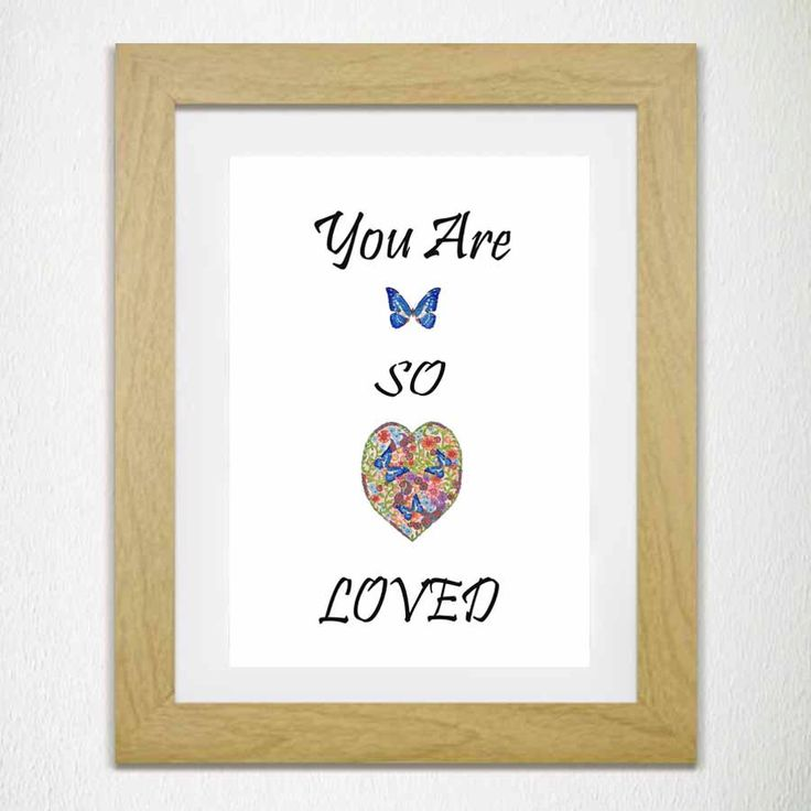 You Are So Loved Quote Print Love Graphic Print -Nursery Print Childrens Room Print Affirmation Print Baby Shower Gift Christening Present by Canvasbutterfly on Etsy