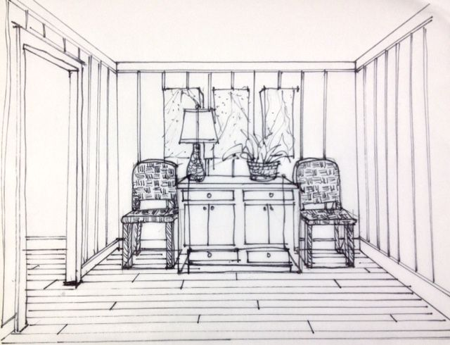 One Of The Great Things About Teaching A Perspective Class Is Getting Opportunity To Practice Drawing An Interior Space Image Above Visual