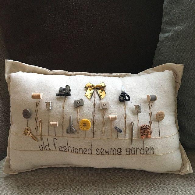 Summer Flower Garden Pillow Cottage