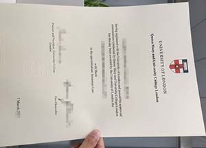 Buy Queen Mary and University College London fake degree
