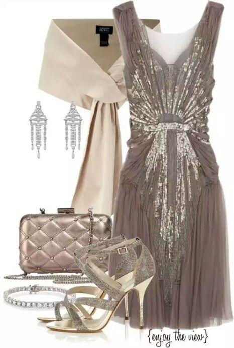 outfit tarde elegante. El vestido espectacular.