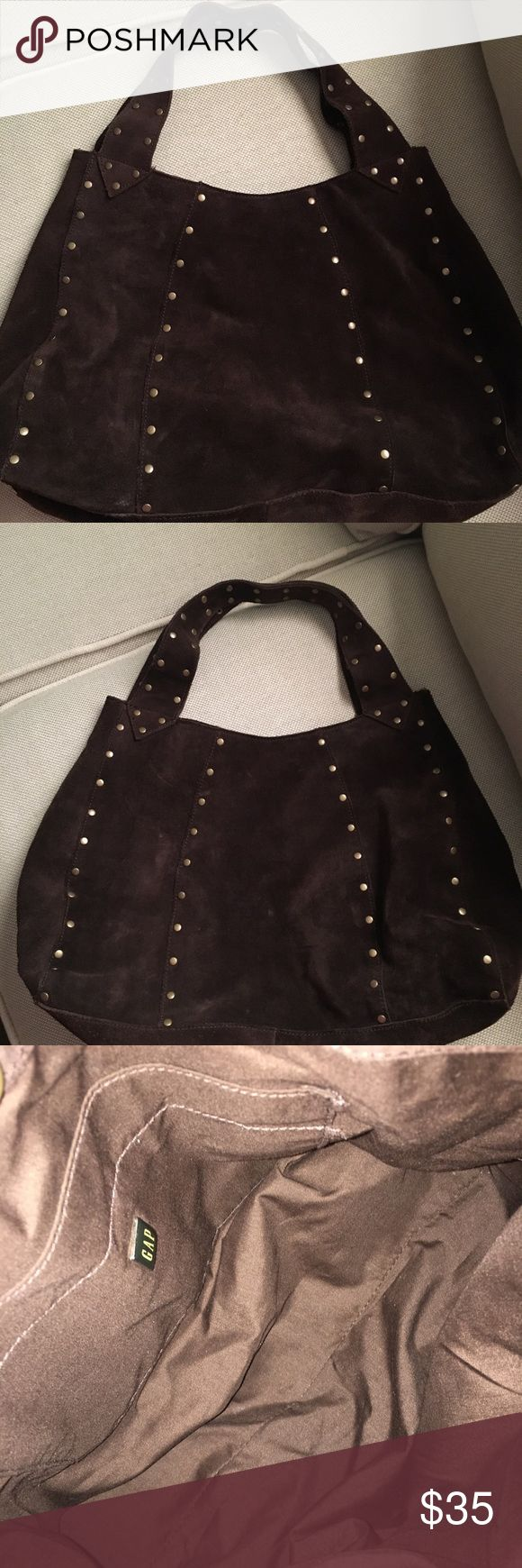 Suede handbag This studded handbag is in great condition. It is like new inside and out. GAP Bags Shoulder Bags
