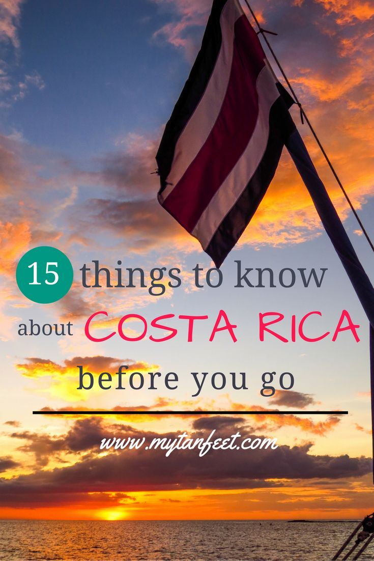 Planning a trip to Costa Rica? Here are 15 things every visitor should know before they go http://mytanfeet.com/costa-rica-travel-tips/15-things-to-know-about-costa-rica/