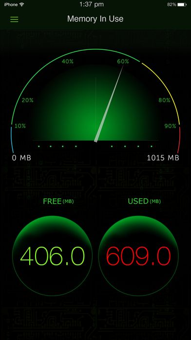 System Activity Monitor - Battery Free Memory on App Store:   Take a deep dive into your iPhone/iPad to see whats going on inside. System Activity Monitor App is an iOS activity monitor that provides a unique Da...  Developer: Tekton Technologies (P) Ltd.  Download at http://ift.tt/1rrGf4O