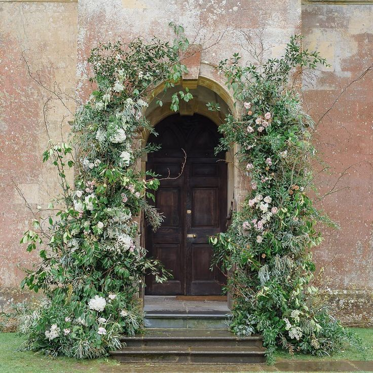Beautiful Installation For A Church Door Wedding Ceremony