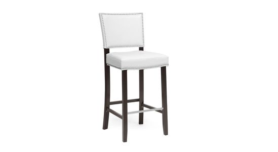 Crawley Bar Stool in White - designer inspired bar stool looks right at home next to a modern counter or contemporary bar!