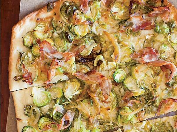 Brussels Sprouts, Pancetta, and Parmesan Flatbreads