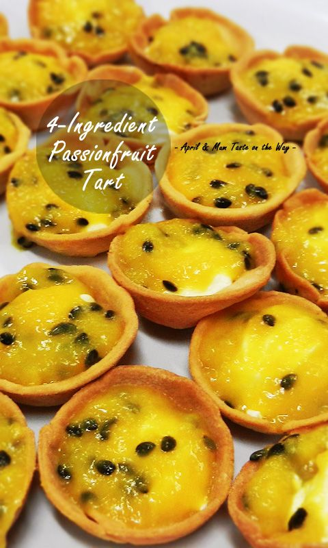 4-Ingredient Passionfruit Tart | No-bake filling. Easy, quick and best for party. #Australian #dessert
