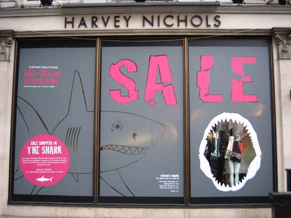 Winter Sale windows - Harvey Nichols by James Turner, via Behance