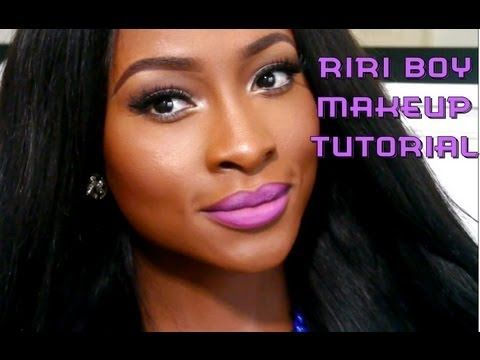 A RiRi Boy Makeup Tutorial - YouTube