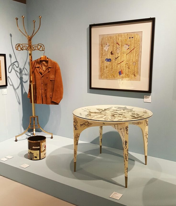 Italian artist 'Piero Fornasetti' exhibition [Fishes and seahorses, 1950] concave table