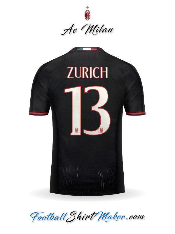 Camiseta AC Milan 2016/2017 Zurich 13