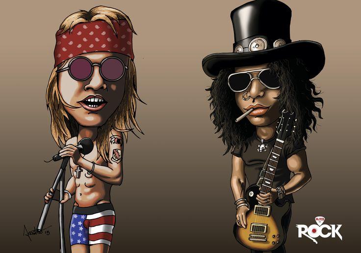 Caricature Guns N Roses Pinterest