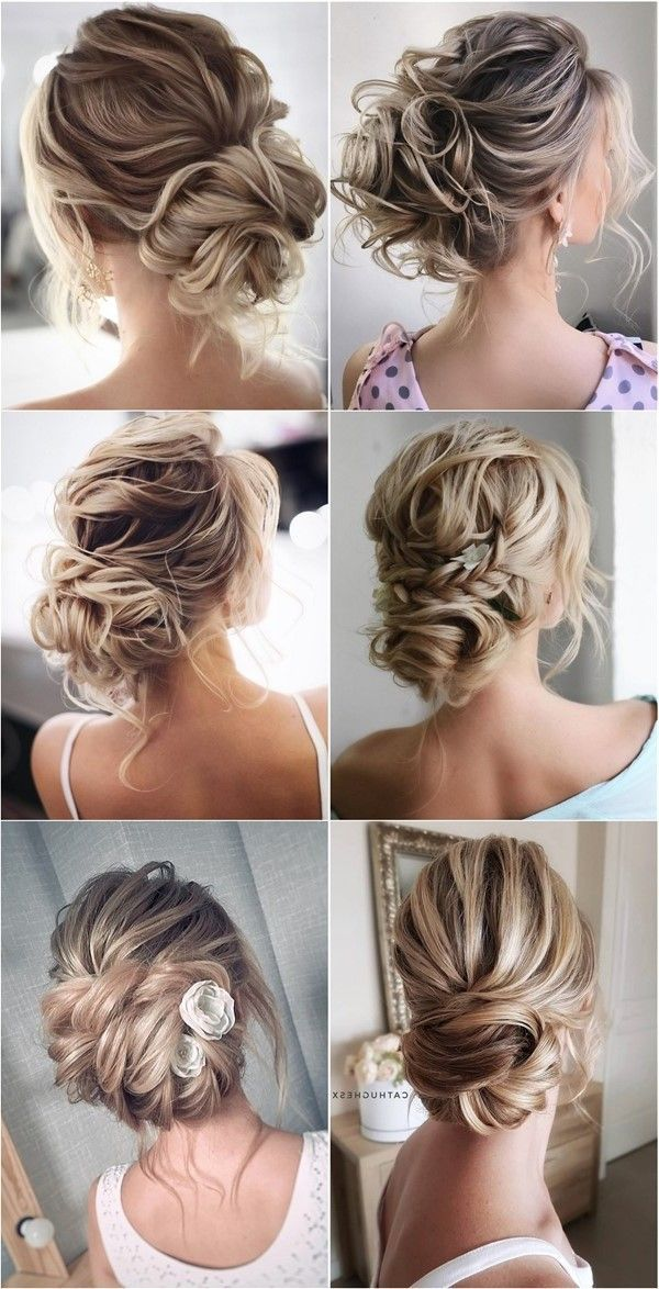 44 Romantic Messy Updo Hairstyles For Medium Length To Long Hair Messy Updo Hairstyle For Elegant Look In 2020 Medium Length Hair Styles Hair Styles Messy Hairstyles