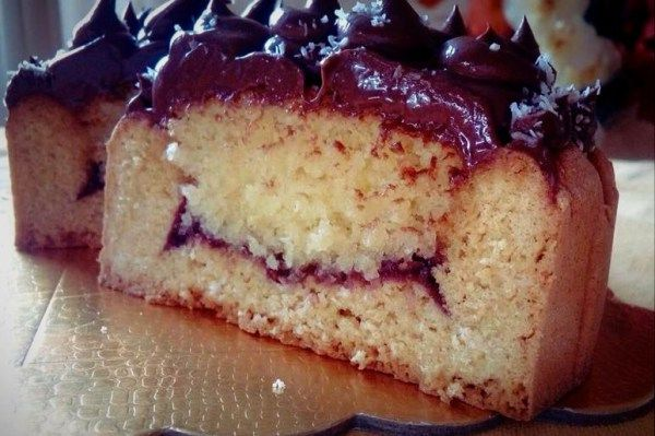 Crostata Frangipane al Cocco con Namelaka al Fondente gluten free