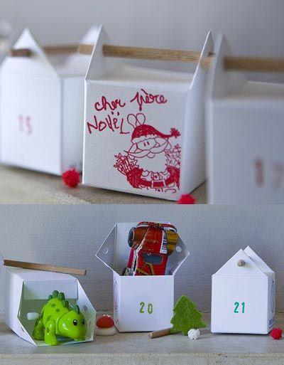 Advent calendar Noix de coc' !! 24 easy to assemble paper cubes, 2 sides to get creative !! http://www.noixdecoc.com/
