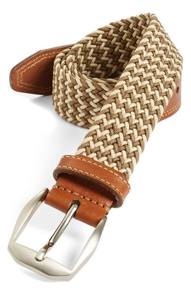 Martin Dingman 'Beck' Belt available at #Nordstrom The belt goes quite well with khaki-to-mustard colored slacks.