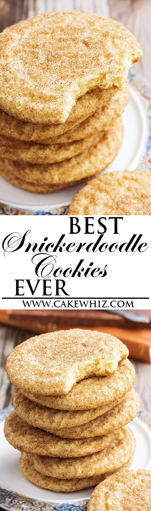 This classic SNICKERDOODLES recipe yields soft and chewy cookies with crispy, sugary tops. These old fashioned snickerdoodle cookies are packed with cinnamon flavors and are very easy to make. From cakewhiz.com