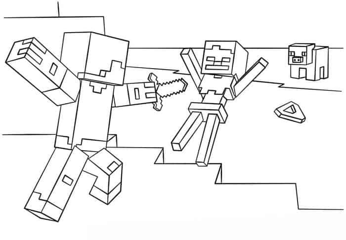 Minecraft Story Mode Coloring Pages Minecraft Coloring Pages Coloring Pages Online Coloring Pages