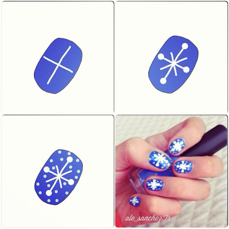 Last minute #ChristmasNails: snowflakes! How to