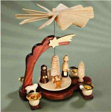 4 Candle Handmade Wooden German Christmas Pyramid Christmas Decoration