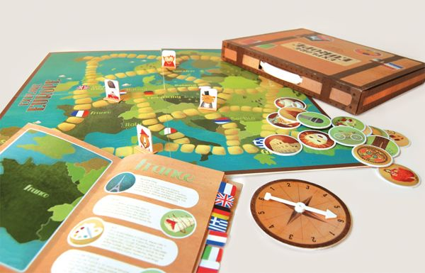 Friends Around the World - Game by Joy Paton, via Behance