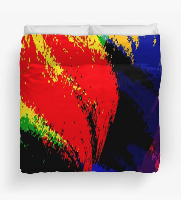 """Unique and colorful, """"Just Before Sleep"""" Duvet Cover by Steel Graphics"""