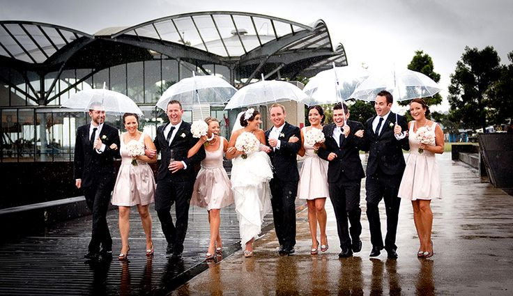 They didn't let the rain spoil their special day!