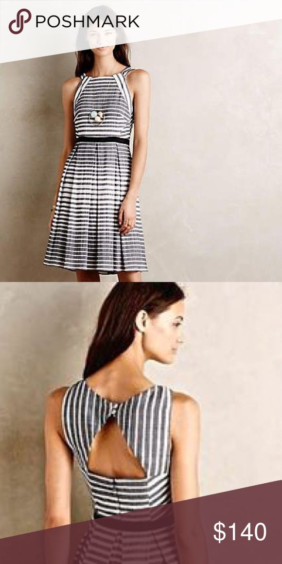 Eva Franco Anthropologie Dress Black and white dress. High quality. Never worn. Anthropologie Dresses Midi