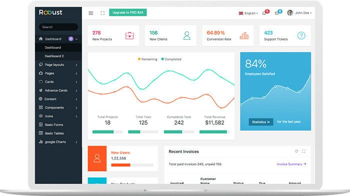 Free Dashboard Templates To Download And Use For A Web App Free