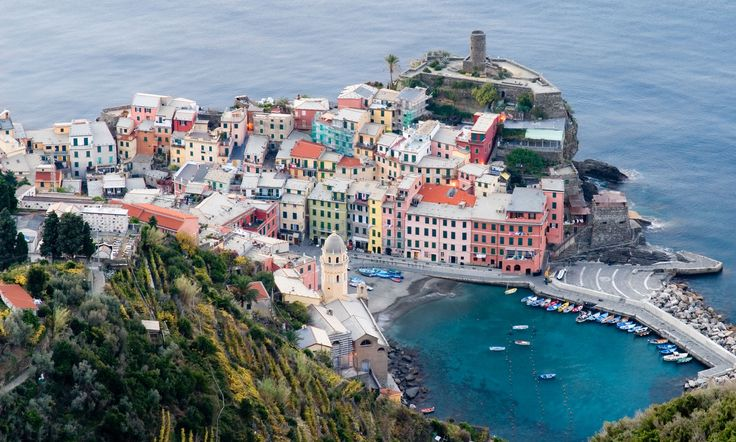 Vernazza, Cinque Terre, Italy Admittedly more a small town than a city, Vernazza – along with the other Cinque Terre centres – is celebrated for its colourful array of houses Photograph: Alamy