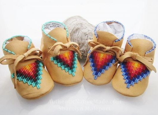 Native American Moccasins baby moccasins by AuthenticNativeMade