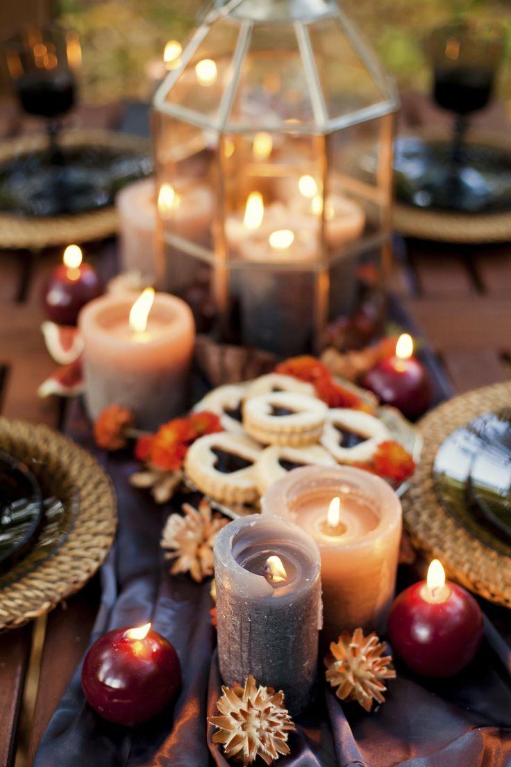 Herbstliche Tischdekoration aus der Natur