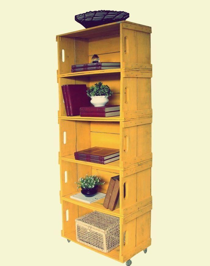 Caixotes de feira podem ser usados na decoração com estilo e bom gosto; confira 50 ideias