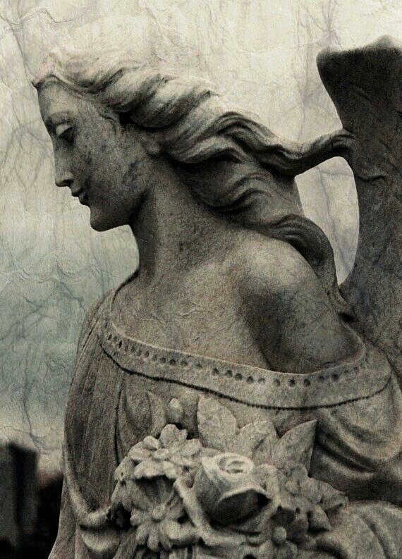 Gothic stone angel...