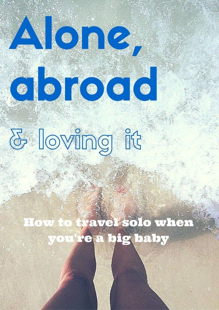 "Ever thought to yourself, ""I wish I could do that""? You totally can. I'm a big baby and I travel solo AND just moved to a new country all by myself. Here are my tips for conquering anxiety abroad on whileimyoungandskinny.com"