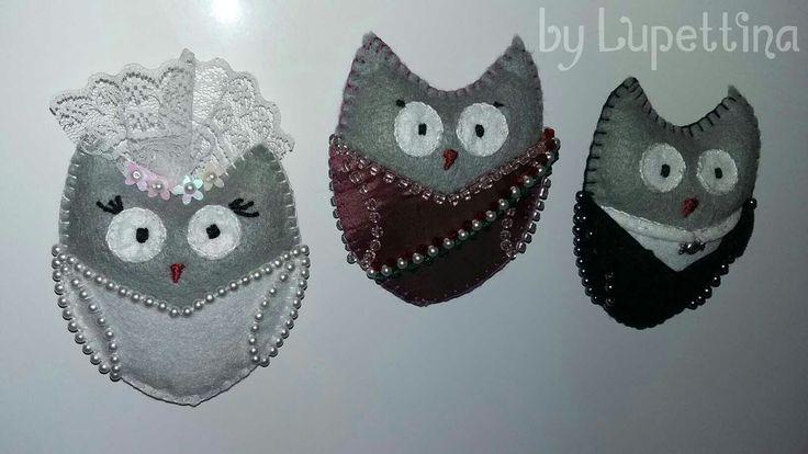 Wedding fridge magnets by Lupettina