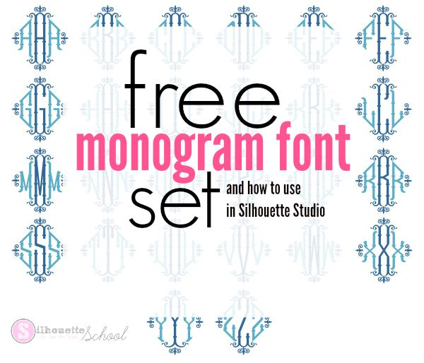 Free Monogram Set and How to Use Monogram Font in Silhouette Studio | Silhouette School | Bloglovin'