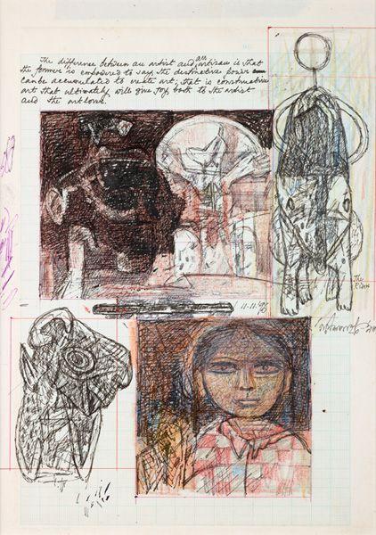 #Ganesh #Pyne, Modern Masters On Paper: LIVE Auction -December 2, 2014