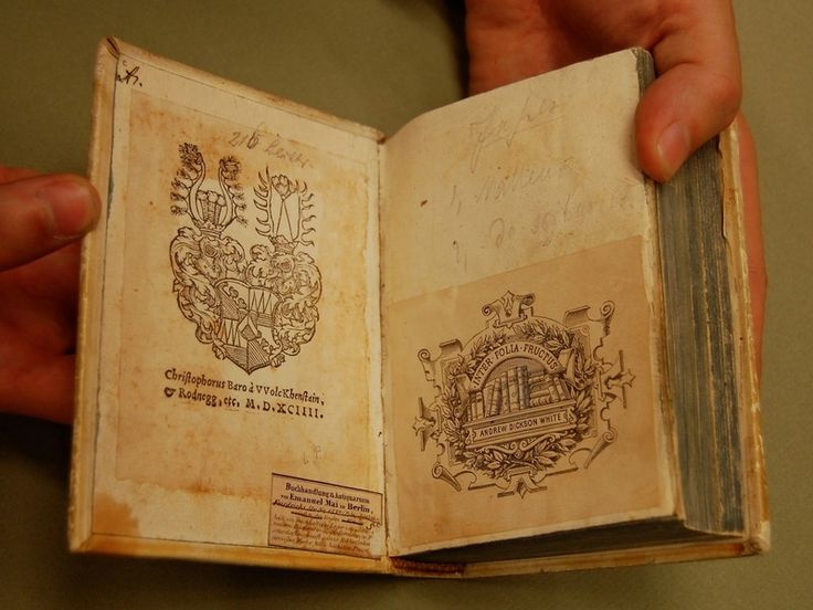 Cornell's witchcraft collection has an original copy of the Malleus Maleficarum, an early witch-hunting handbook.