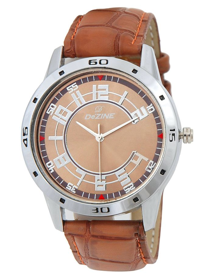 Buy This Dezine Analog Watch For Men On Looksgud.in #Brown #watch #Casual