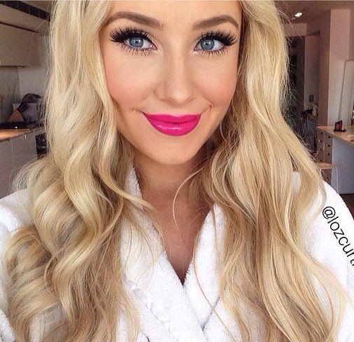 I love Lauren Curtis! - perfect pink lipstick colour! #beautifulmakeup