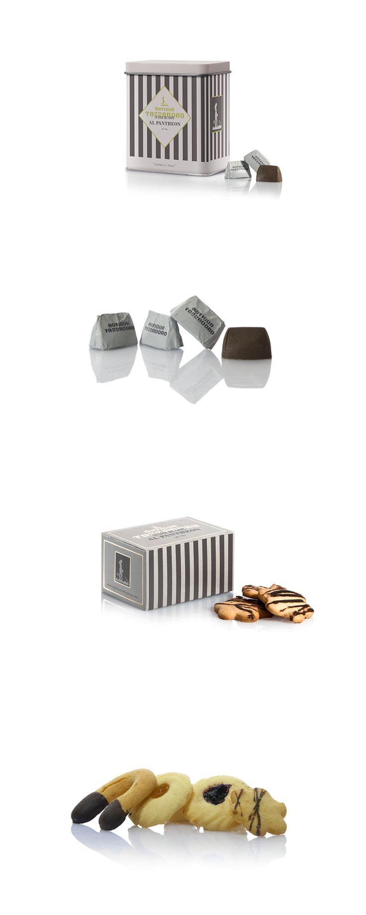 Ideazione e progettazione delle confezioni della linea dolciumi del bar Antigua Tazza D'oro. #graphic #design #packaging