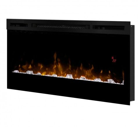 The best-selling electric linear fireplace just got better with the all new Prism Series. Sparkling with intensity in a full spectrum of RGB colors, the Prism flame effect illuminates the diamond-like acrylic ice ember bed in a show-stopping effect. Complete with a powerful and efficient fan-forced heater, this fireplace adds comfort and ambiance to any space. Plugged in or hard-wired, hung on the wall or built-in; the Prism is beautifully versatile.