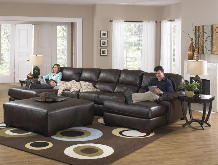 Tufted Sofa Lawson Two Chaise Sectional Sofa with Five Total Seats by Jackson Furniture Wolf Furniture