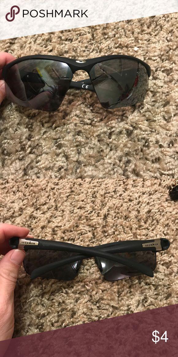 Iron man ironman sunglasses Black says iron man on the side like new Accessories