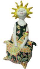 Статуэтка Фея, Авторская керамика Марины Сиротинской, Знак зодиака, Дева Знак зодиака, Подарок для Девы