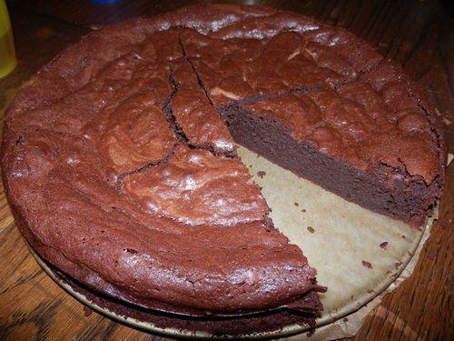 gluten vrije zachte chocoladetaart
